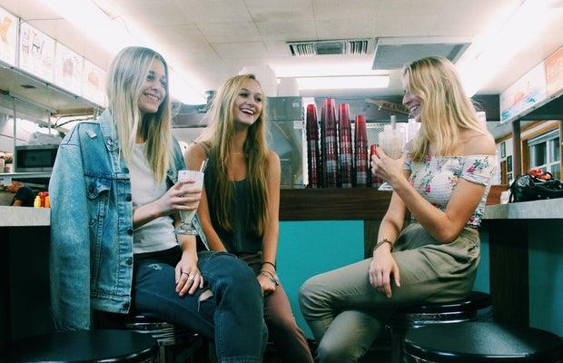 Anna Schultz-Girls In Diner Laughing