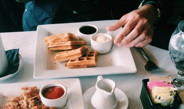 The Lalaguy Hands On Breakfast Date Waffles And Hashbrowns