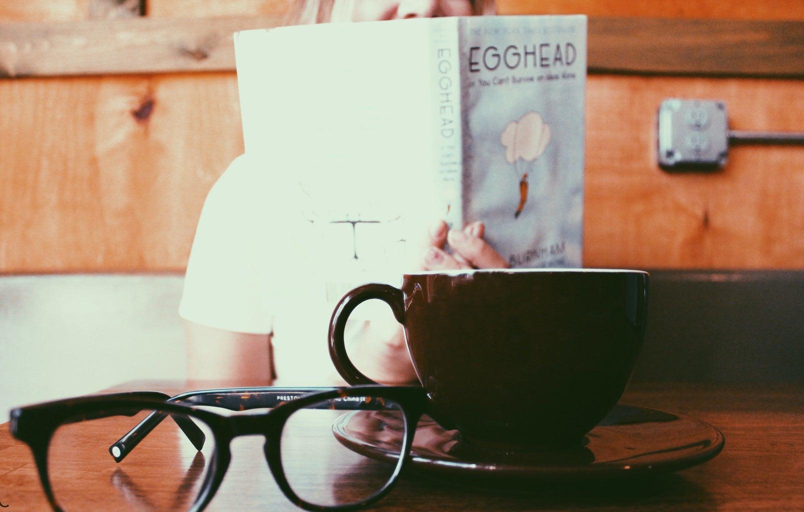 Amelia Kramer-Coffee Shop Glasses Book Latte