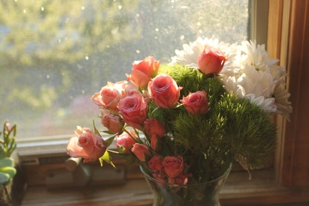 Flowers Colorful Summertime Window Fun Original