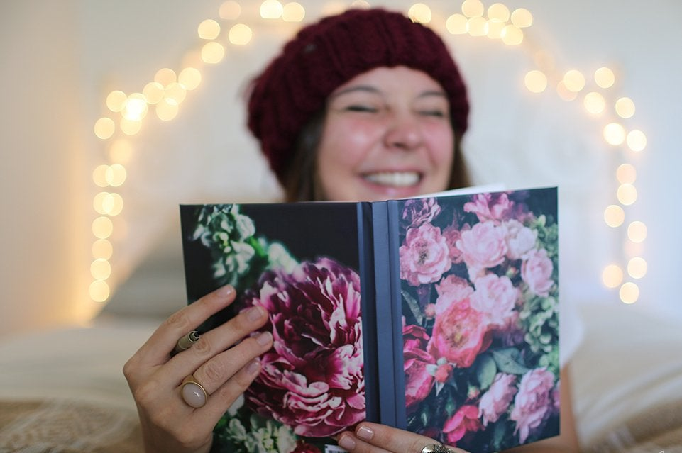 The Lalagirl Smiling Holding Journal