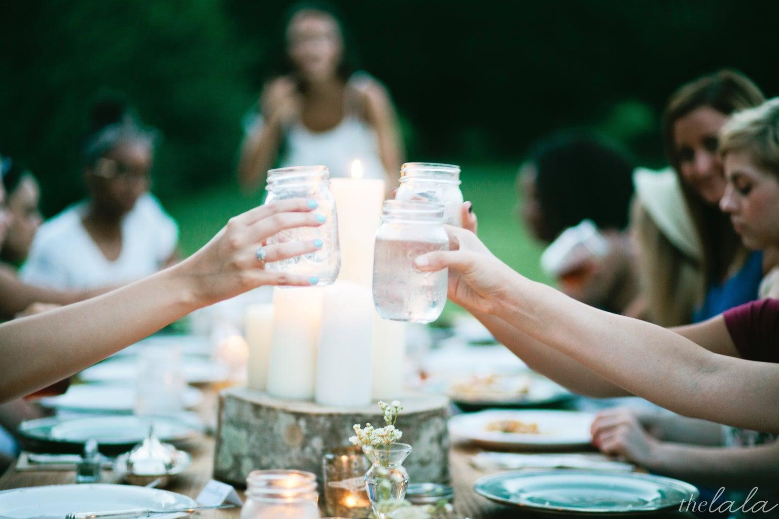 Mason Jars Dinner Party