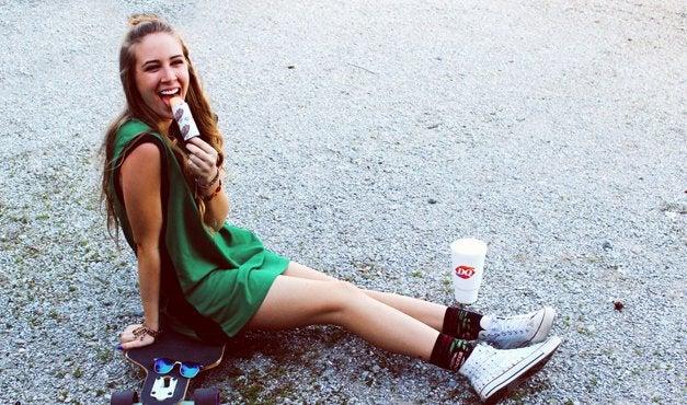 Amelia Kramer-Skateboard Jersey Faded Push Pop