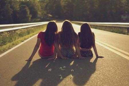 Kayla Bacon-Friends Sitting On Road