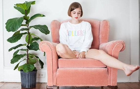 Kristen Bryant-Thinking In A Lala College Sweatshirt
