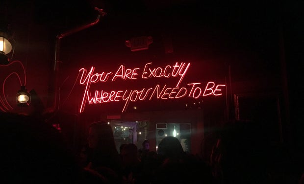 Lindsay Thompson-Neon Sign Where You Need To Be Miami Bar Inspiration
