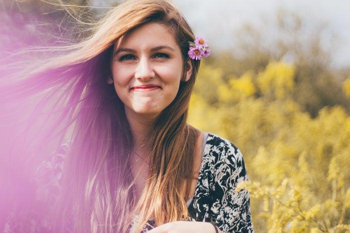 The Lalapurple Flower In Hair
