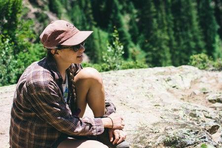 Cameron Smith-Girl Colorado Travel Hiking Trees Nature Hat Sunglasses