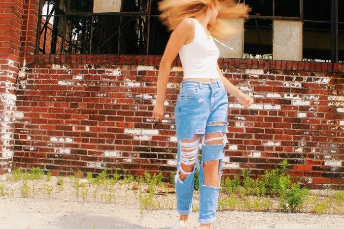 Anna Schultz-Girl Flipping Hair