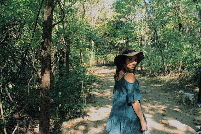 Anna Schultz-Girl In Felt Hat In Forest On Path
