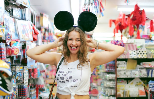 The Lalasmiling Girl In Mickey Mouse Ears