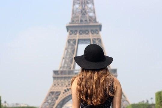 Kellyn Simpkin-Girl In Front Of Eiffel Tower France Hat Paris