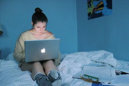 Anna Schultz-Girl On Laptop In Bed