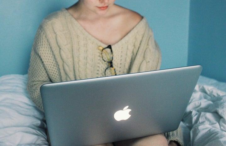 Anna Schultz-Cozy Girl Using Laptop