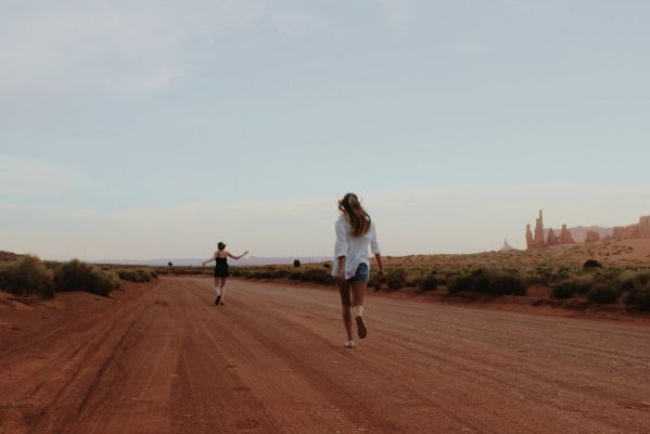 Anna Schultz-Best Friends Running Through Desert Adventure Road Trip
