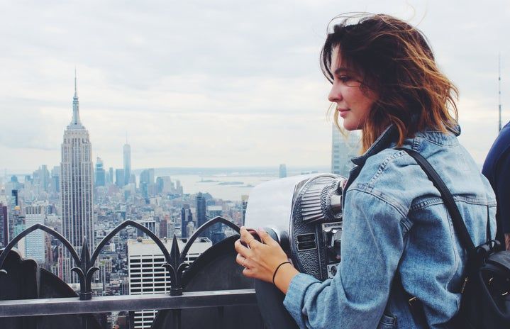 Girl On Rooftop Nyc
