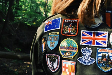 Jacket With European Patches