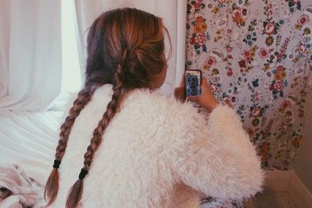 Anna Schultz-Girl In Braids Taking A Selfie