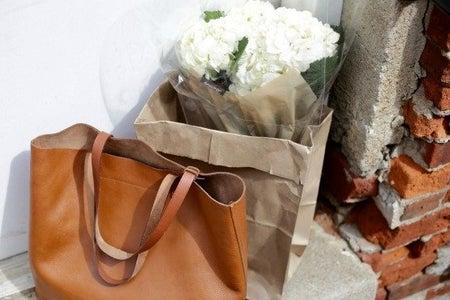 Dimi Boutselis-Bag Fashion Style Flowers Boho Minimal White Brick