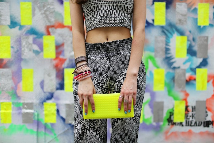 The Lalayellow Clutch Colorful Wall