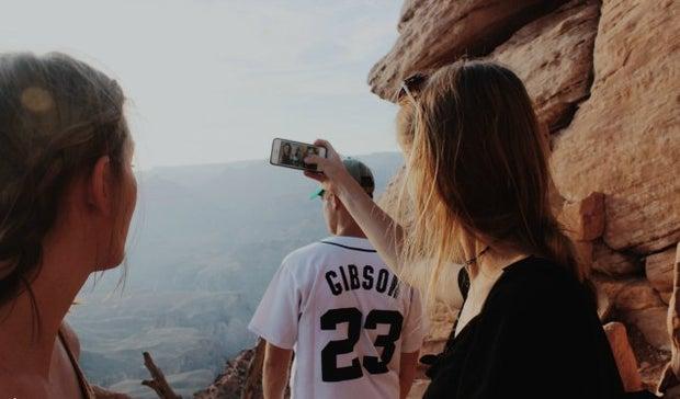 Anna Schultz-Friends On Hike Close Up