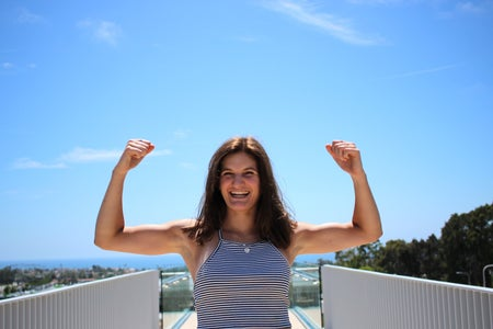 Kellyn Simpkin-Strong Girl Flexing And Smiling