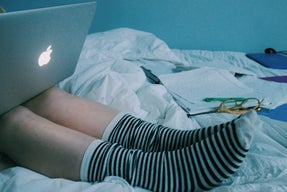 Anna Schultz-Socks And Laptop In Bed