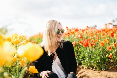 Molly Peach-Blonde Girl And Flowers