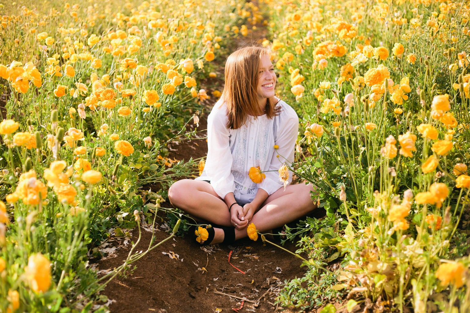 Molly Peach-Laughing In Field