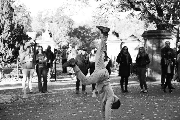 Street Dancing In The Park B&W 1