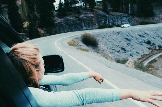 Anna Schultz-Hands Out Window Road Trip