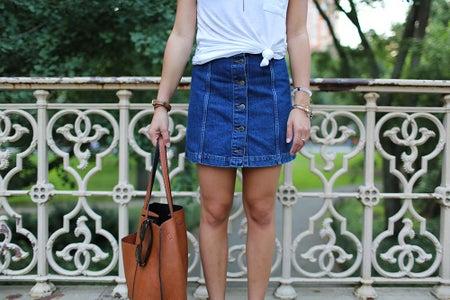 The Laladenim Skirt Leather Bag