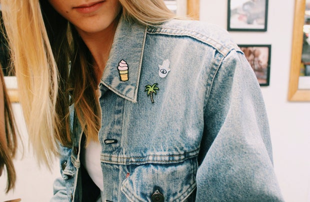 Anna Schultz-Patches On Jean Jacket
