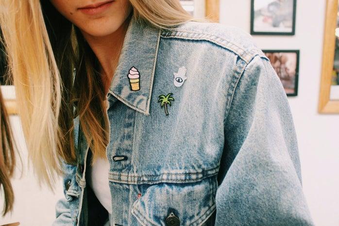 Anna Schultz-Patches On Jean Jacket