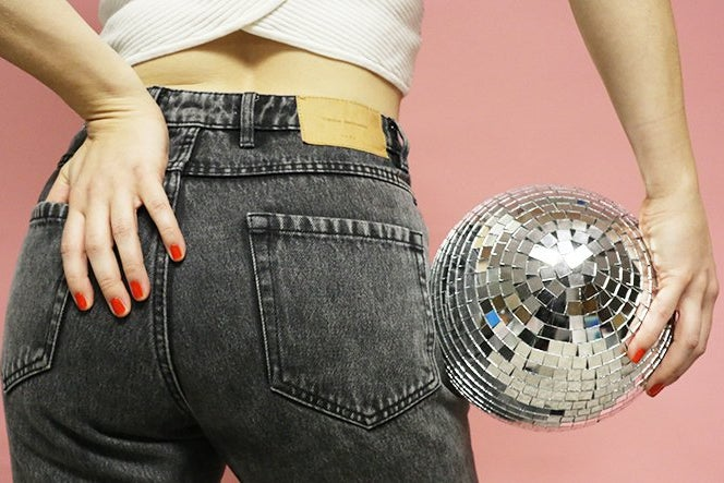 Butt Disco Ball Jeans Party Fun