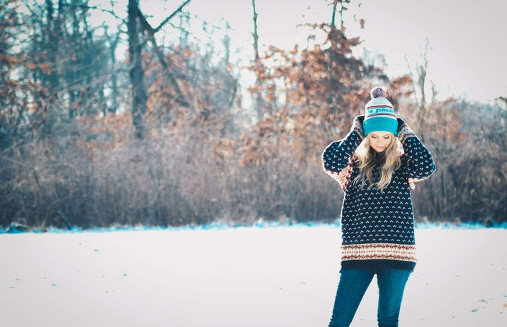 Celina Timmerman-Girl In Winter Hat In The Snow