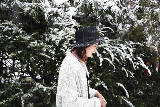 Girl With Snow In Trees 1