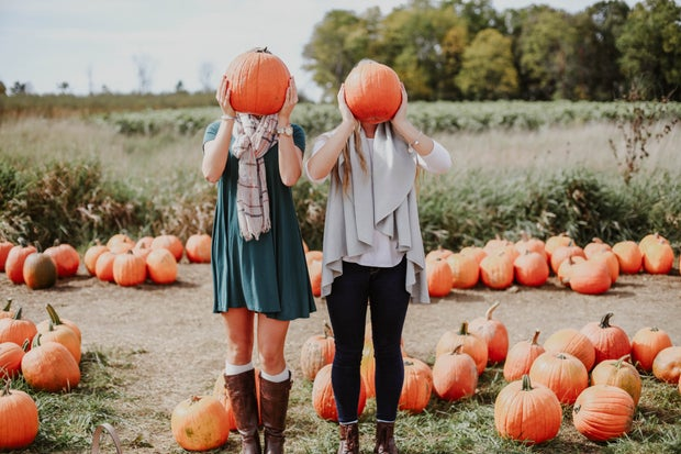 Girls Pumpkins