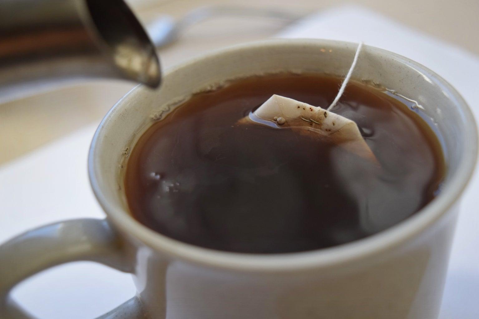 Hot Lipton Tea In A Mug