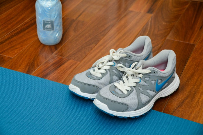 Running Shoes Water Bottle