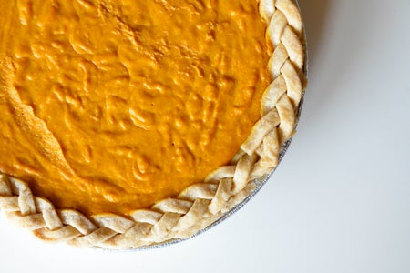 Pumpkin Pie Top Down Braided Crust