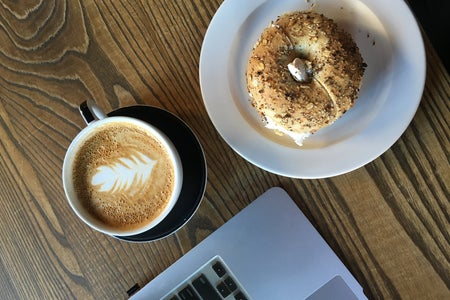 Cafe Bagle Coffee Laptop