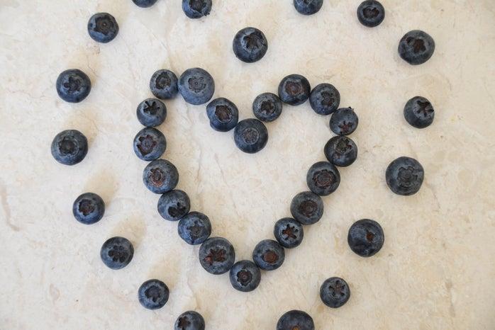 Blueberries Heart