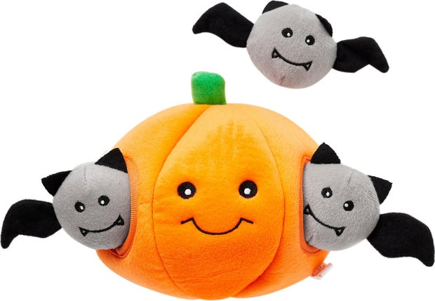halloween pumpkin dog toy