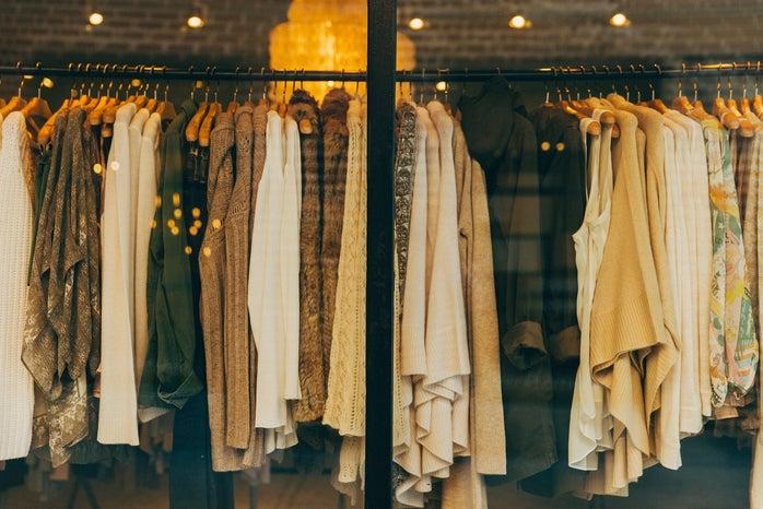 Clothing Rack through Window