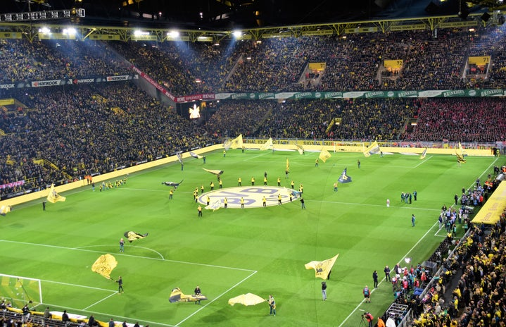 full stadium at a German football game