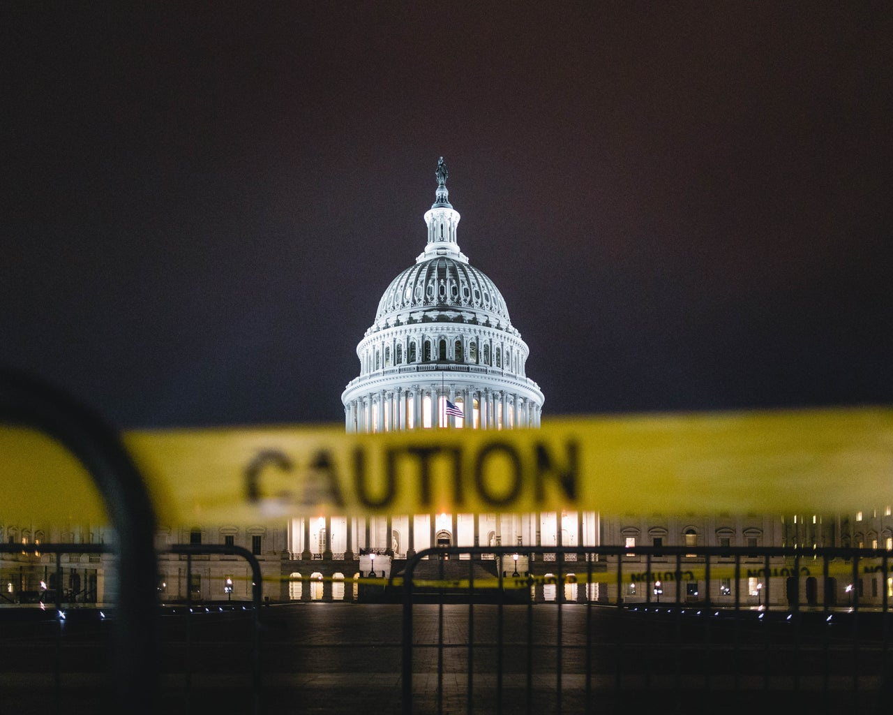 Caution Tape at the United States Capitol