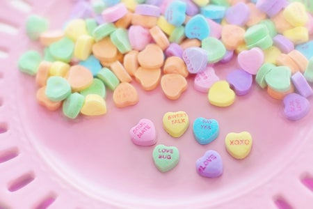 valentine's day heart candies