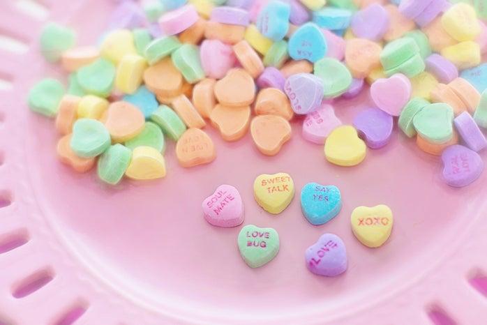 valentine's day heart candies