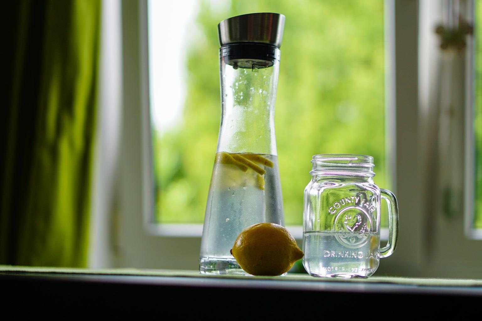 Jar with lemon